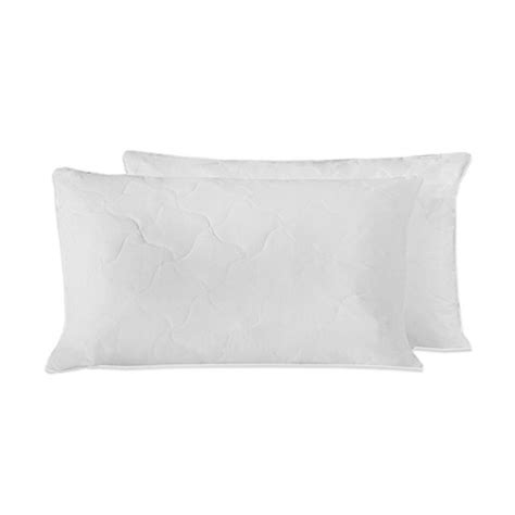 bed bath and beyond feather pillow therapedic 174 quilted feather pillows set of 2 bed bath beyond