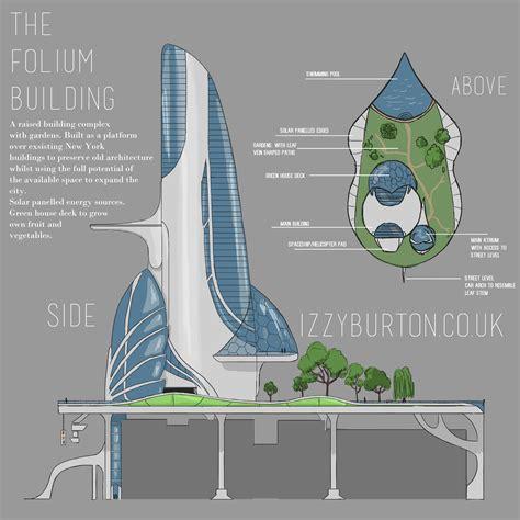 specialist project futuristic building design izzyburton