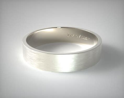 14k Yellow Gold Mens 6mm Comfort Fit Wedding Band by 14k White Gold 6mm Flat Satin Finish Comfort Fit Wedding