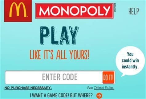 Mcdonalds Monopoly Instant Win Prizes - mcdonald s monopoly instant win game free codes lots of awesome prizes