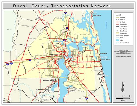 Duval Fl Search Duval County Road Network Color 2009