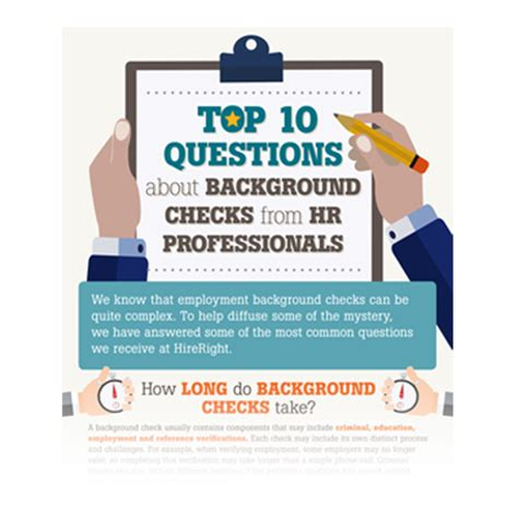 Top 10 Background Check Top 10 Questions About Background Checks From Hr Professionals Hireright