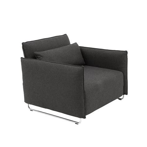 canapé une place convertible cord fauteuil design convertible lit 1 place softline