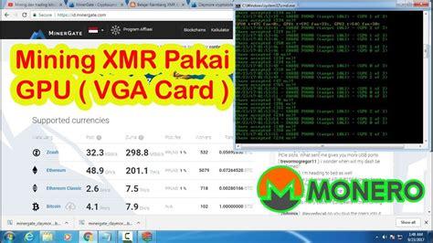 Harga Asic Miner Murah tutorial mining xmr monero dengan vga gpu mining