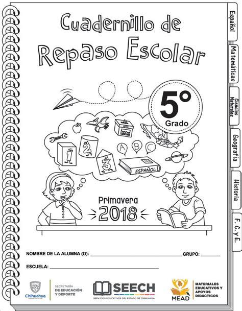 cuadernillo de repaso escolar para vacaciones del quinto cuadernillo de repaso escolar del quinto grado de primaria