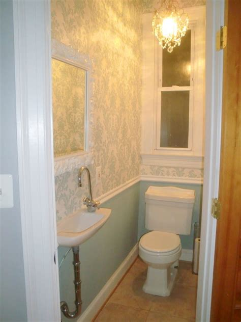 Tiny Half Bathroom Ideas | tiny powder room powder room dc metro