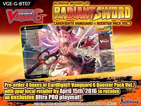 Vanguard Gbt 12 Booster cardfight vanguard g booster pack vol 7 glorious