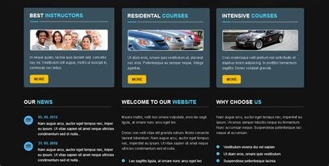 template joomla school driving school joomla theme gridgum