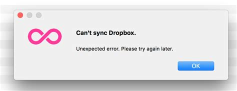 dropbox troubleshooting can t sync dropbox unexpected error troubleshooting