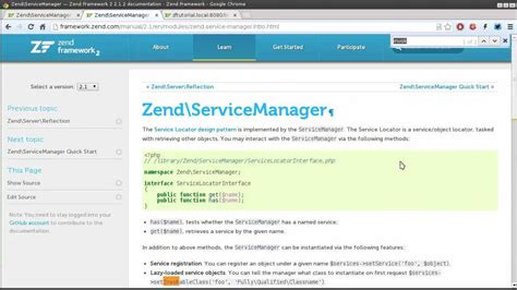 zend tutorial youtube zend framework 2 1 tutorial 4 service manager youtube