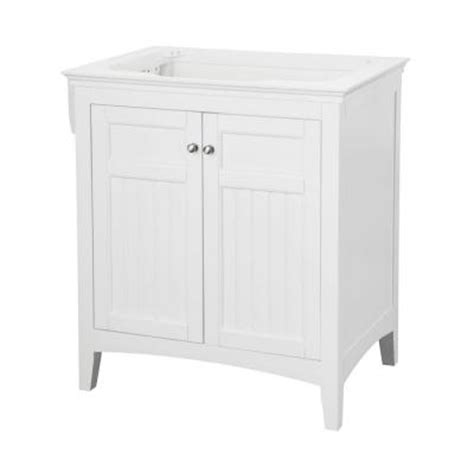 pegasus carrabelle 30 in vanity cabinet only in white