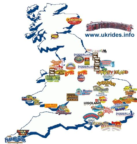 theme park names in london uk map of theme parks uk pinterest