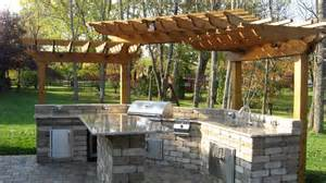 Backyard Grill Cover Outside Kitchens Pictures Modular Outdoor Kitchen1 400x225 Modular Outdoor Kitchen1 Ideas