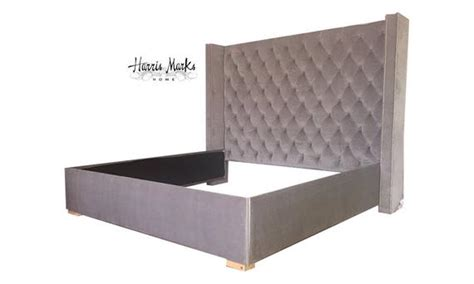 tufted king bed upholstered tempurpedic bed frame extra tall