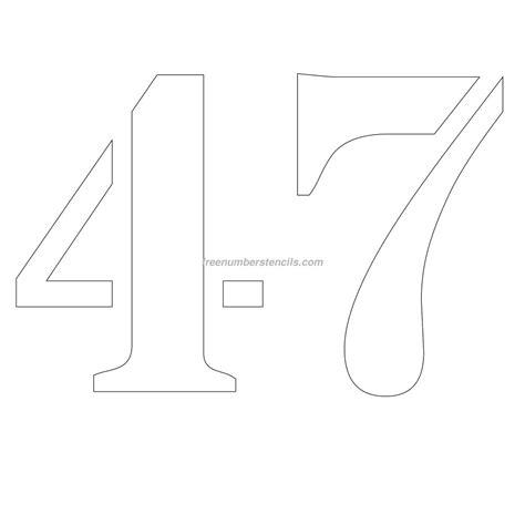 printable 12 inch number stencils free 12 inch 47 number stencil freenumberstencils com