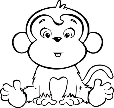 girl monkey coloring page baby girl monkey coloring pages free