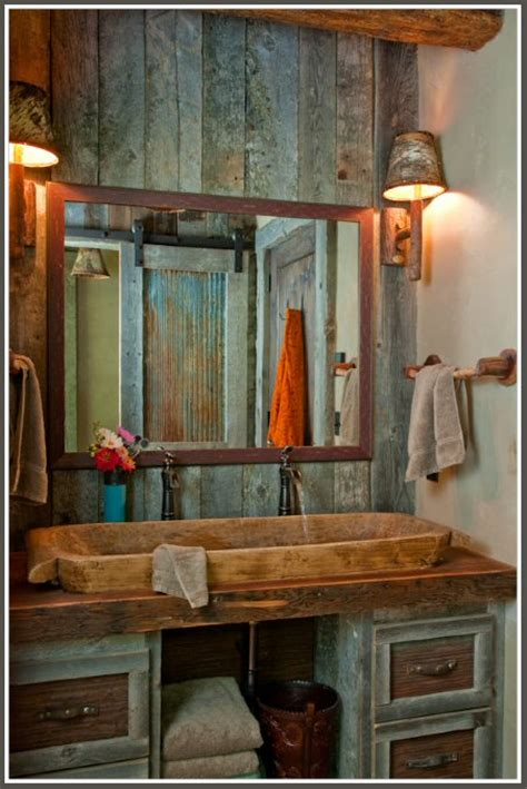 Rustic Cabin Bathrooms by Rustic And Cosy Cabin Decor Panda S House