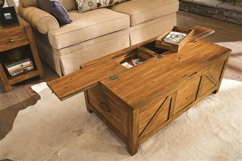 materials   coffee table  storage