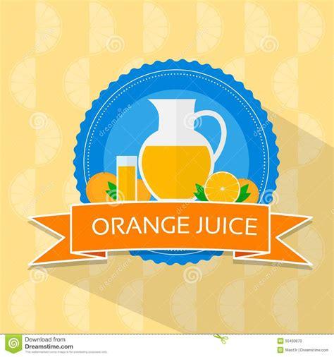 design banner orange orange juice flat design banner card vector stock vector