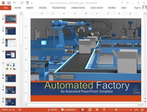 automated factory powerpoint templates with animations