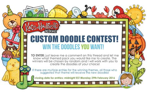 doodle create choice custom doodle contest 2016 kate hadfield designs