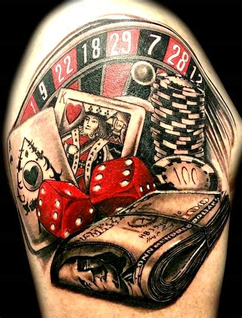 25 casino chips tattoos