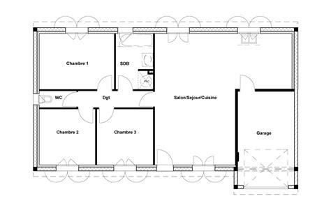 Plan Maison Plein Pied 80m2 plan maison 80m2 plein pied swyze