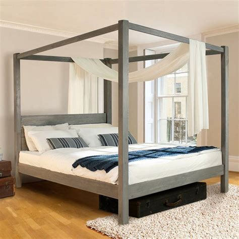 futon original wooden four poster bed frame classic by get laid beds