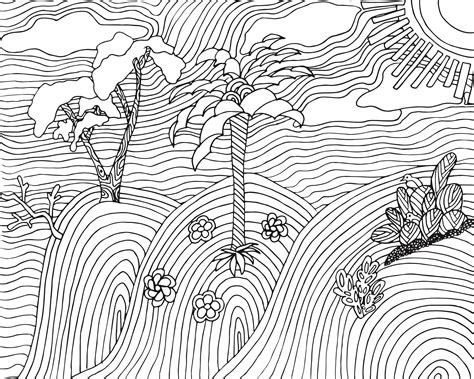 landscape coloring pages free landscape coloring page for adults free printable
