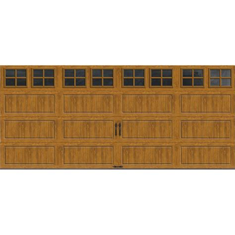Home Depot Clopay Garage Doors Clopay Gallery Collection 16 Ft X 7 Ft 18 4 R Value Intellicore Insulated Ultra Grain Medium