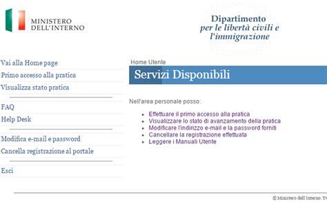 ministero interno help desk nullaostalavoro dlci interno it cittadinanza italiana