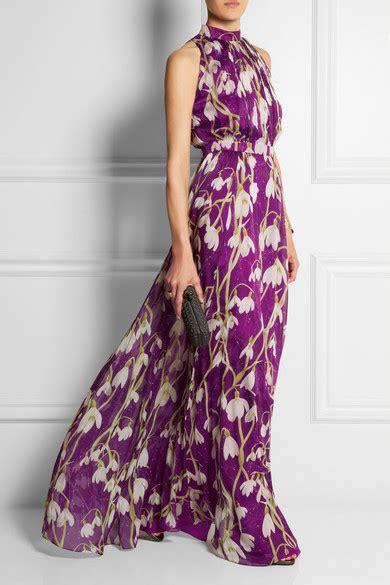 Matthew Williamson Lotus Chiffon Dress by Matthew Williamson Printed Silk Chiffon Gown Net A