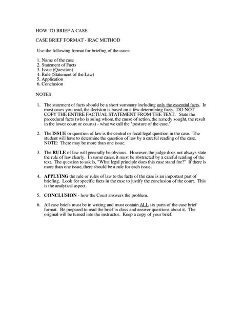 irac format exle paralegal information pinterest