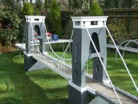 Diy Suspension Bridge 54 Span Clifton Suspension Bridge Model Youtube