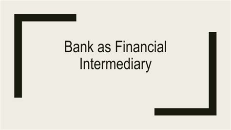 intermediary bank details bank as financial intermediary