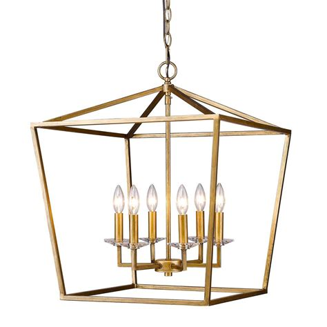 Acclaim Lighting Kennedy Indoor 6 Light Antique Gold Lantern Chandeliers