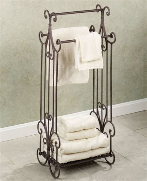 free standing towel rack can help save space