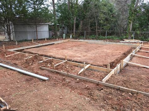 steel garage building kit concrete footing slab south carolina