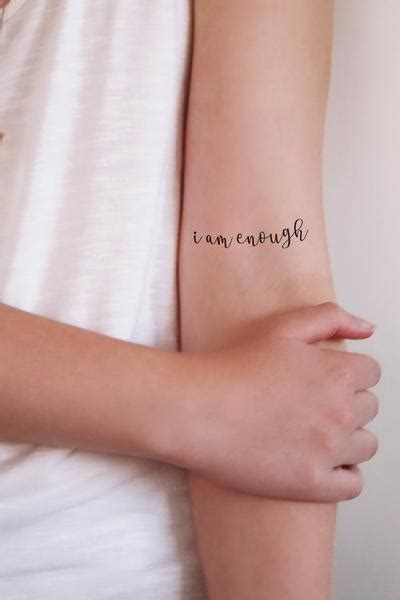 i am tattoo temporary i am enough 2 pieces temporary