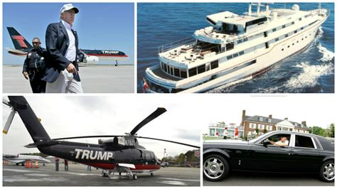how many houses does trump own how many cars boats and planes does donald trump own