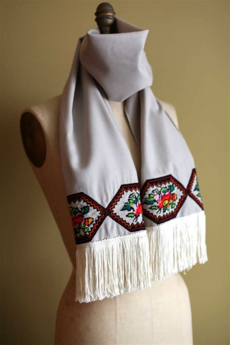Embroidered Scarf ukrainian embroidered scarf by marusya grace