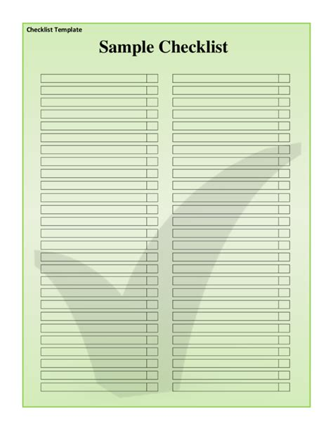 checklist pdf template checklist template 3 legalforms org