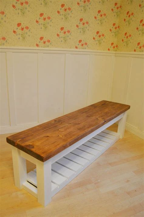 chunky hall shoe storage bench shoe racks uk  bespokepineuk entry  storage bench