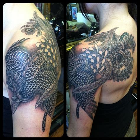 traditional black and grey japanese tattoo japanese tattoo