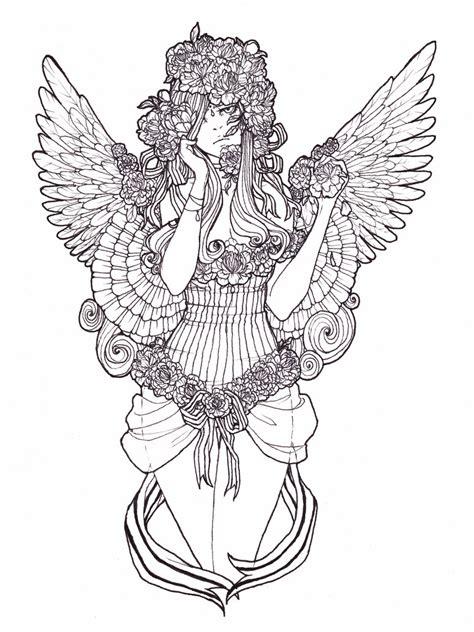 weeping angels coloring page weeping angel lines by samurainataku on deviantart
