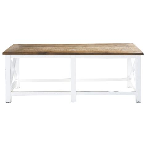 Recycled Wood Coffee Table W 120cm Sologne Maisons Du Monde Recycled Coffee Table