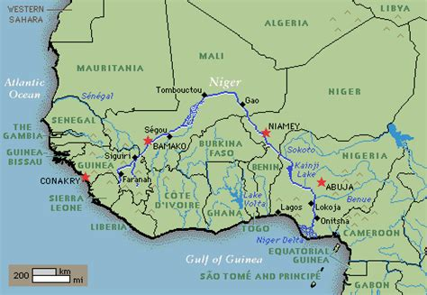 niger river map image gallery niger river map