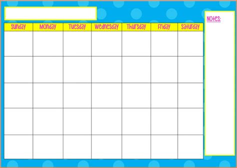 Blank Monday Through Friday Calendar Free Calendar Template Free Monday Through Friday Calendar Template