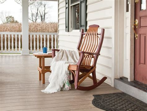 porch rocking chairs on fixer outdoor poly porch rocker from dutchcrafters amish furniture