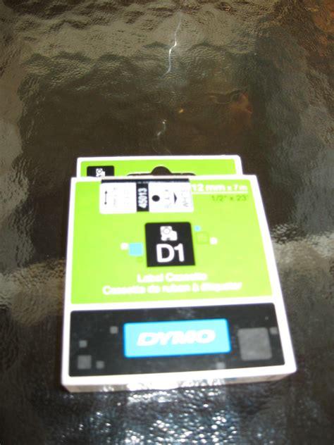 dymo label cassette dymo d1 label cassette 12 mm x 7 mm 1 2 quot x 23 black white